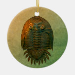 Neometacanthus Fossil Trilobite Double-Sided Ceramic Round Christmas Ornament