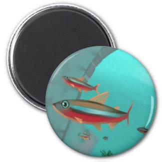 Neon 2 Inch Round Magnet