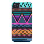 Neon 2 Modern Tribal Case-Mate iPhone 4 Cases