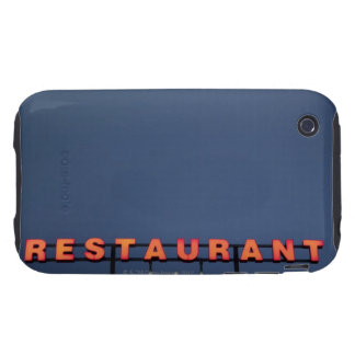 Neon 3 star restaurant sign tough iPhone 3 cover