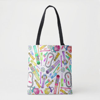 Neon 80's 90's Retro Funny Candy Pattern Tote Bag