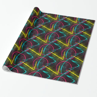 Neon 80s Gift Wrap