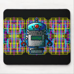 Neon 8-Bit Robots from Outerspace! Mouse Pads