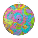 Neon Abstract Dartboard