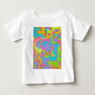 Neon Abstract-Hand Painted Brushstrokes Baby T-Shirt