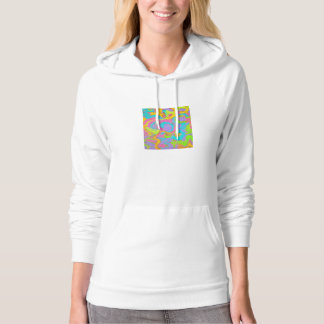 Neon Abstract-Hand Painted Brushstrokes Hoodie