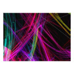 Neon Abstract Party Invitation