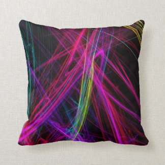 Neon Abstract Pillow