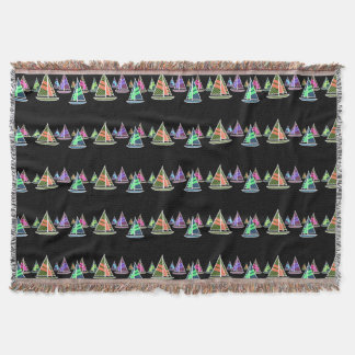Neon Abstract Throw Blanket