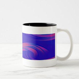 Neon Abstract Wave Mug