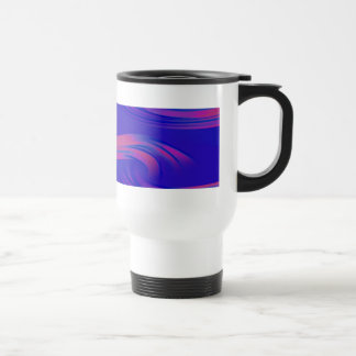 Neon Abstract Wave Travel Mug