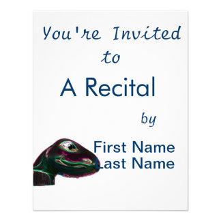 Neón abstracto principal de Dino Invitación Personalizada