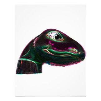 Neón abstracto principal de Dino Invitacion Personal