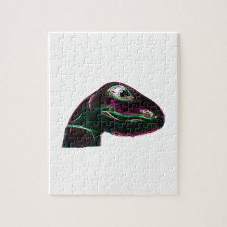 Neón abstracto principal de Dino Rompecabezas