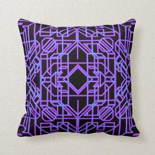 Neon Aeon 1 Throw Pillow