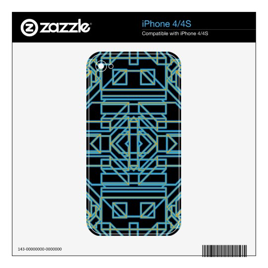 Neon Aeon 5 Decals For iPhone 4S