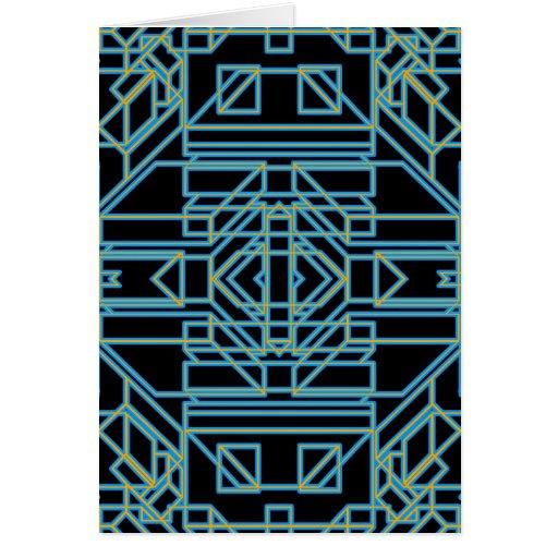 Neon Aeon 5 Greeting Card