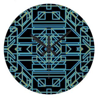 Neon Aeon 5 Large Clock