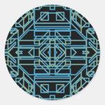 Neon Aeon 5 Round Stickers