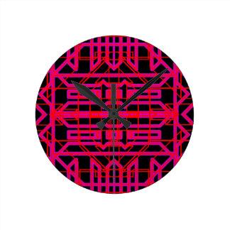 Neon Aeon 6 Round Clock