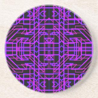 Neon Aeon 9 Drink Coaster