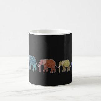 Neon African Elephant Mug
