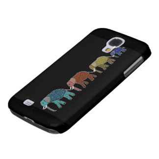 Neon African Elephant Walk Samsung Galaxy S4 Covers