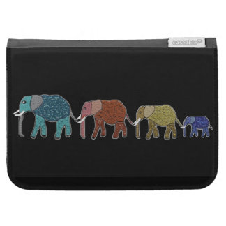 Neon African Elephant Walk Kindle Case