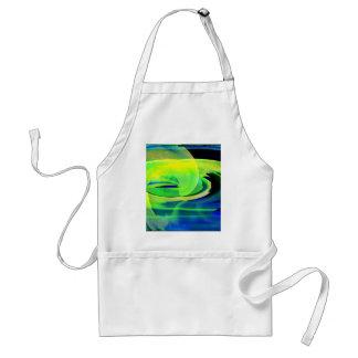 Neon Alien Landscape Abstract Adult Apron