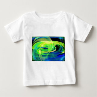 Neon Alien Landscape Abstract Baby T-Shirt