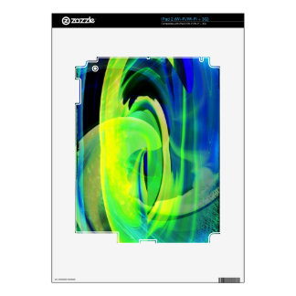 Neon Alien Landscape Abstract Decal For iPad 2