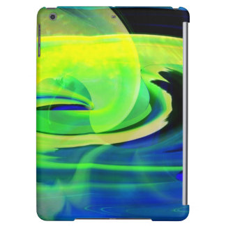 Neon Alien Landscape Abstract iPad Air Case
