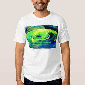 Neon Alien Landscape Abstract Shirt