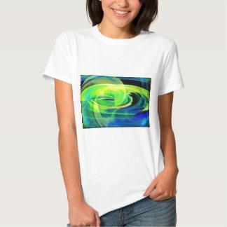 Neon Alien Landscape Abstract T-shirt