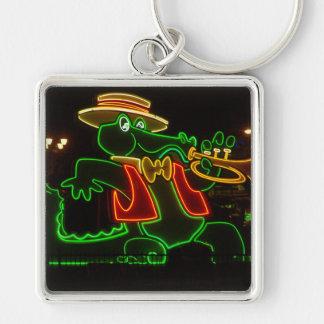 Neon Alligator keychain square