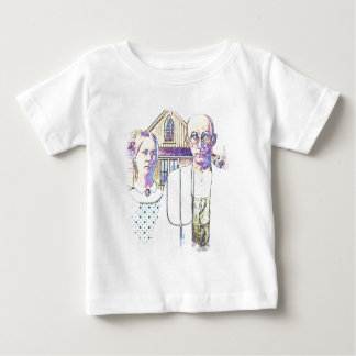 Neon American Gothic With a Twist Baby T-Shirt