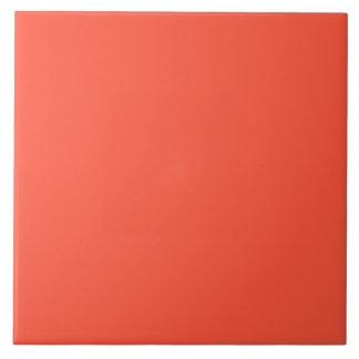 Neón anaranjado fluorescente del albaricoque azulejo cuadrado grande