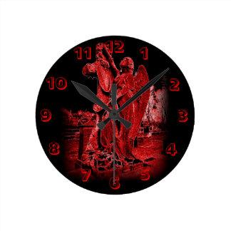 Neon Angel Wall Clock