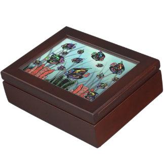 Neon Angelfish Memory Box
