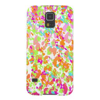 Neon animal cheetah rainbow print case for galaxy s5