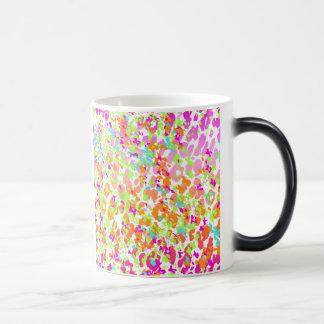 Neon animal cheetah rainbow print magic mug