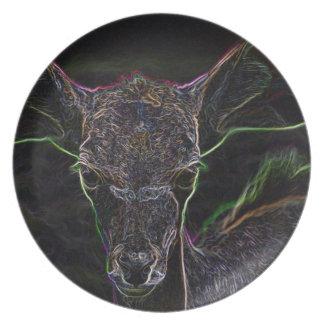 Neon Antelope Plates