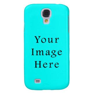 Neon Aqua Blue Bright Turquoise Color Trend Blank Galaxy S4 Case