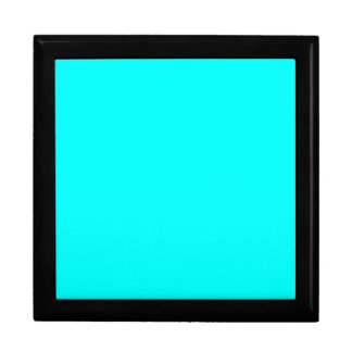 Neon Aqua Blue Bright Turquoise Color Trend Blank Trinket Boxes