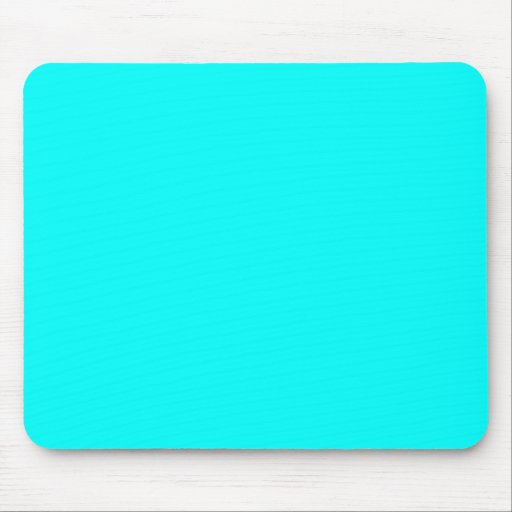 Neon Aqua Blue Bright Turquoise Color Trend Blank Mouse Pad
