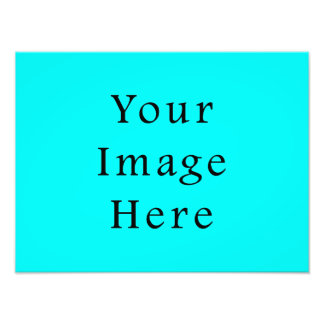 Neon Aqua Blue Bright Turquoise Color Trend Blank Photo Print