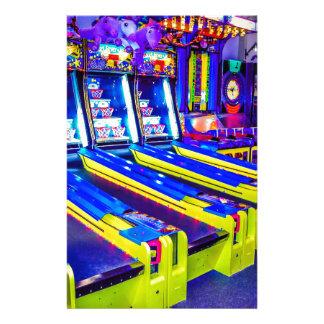 Neon Arcade Stationery
