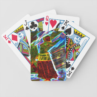 Neon Aura Veil Dancer Bicycle Playing Cards