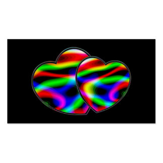 Neon Aurora Hearts Double-Sided Standard Business Cards (Pack Of 100)