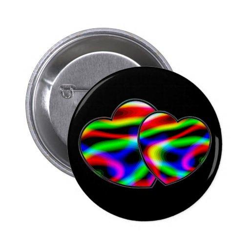 Neon Aurora Hearts Pins